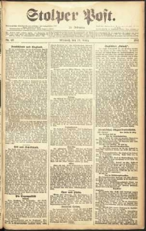 Stolper Post Nr. 69/1911
