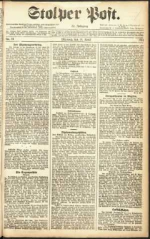 Stolper Post Nr. 91/1911