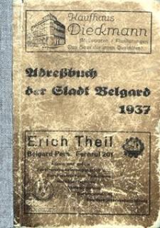 Adreβbuch der Stadt Belgard 1937