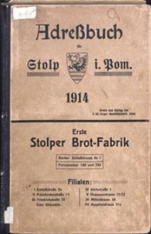 Adreβbuch für Stolp i. Pom. 1914