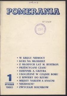 Pomerania : miesięcznik społeczno-kulturalny, 1980, nr 1