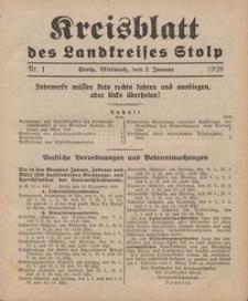 Kreisblatt des Stolper Kreises, 1929