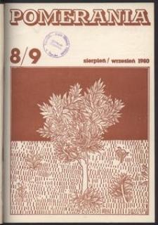 Pomerania : miesięcznik społeczno-kulturalny, 1980, nr 8-9