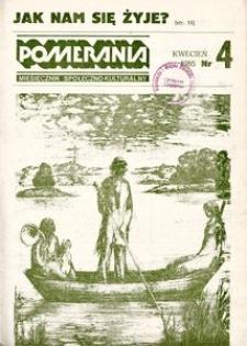 Pomerania : miesięcznik społeczno-kulturalny, 1985, nr 4