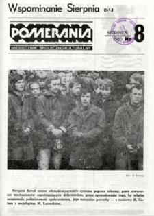 Pomerania : miesięcznik społeczno-kulturalny, 1985, nr 8