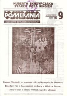 Pomerania : miesięcznik społeczno-kulturalny, 1985, nr 9