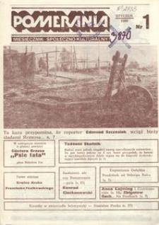 Pomerania : miesięcznik społeczno-kulturalny, 1986, nr 1