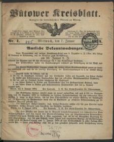 Bütower Kreisblatt 1874