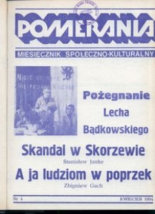Pomerania : miesięcznik społeczno-kulturalny, 1984, nr 4