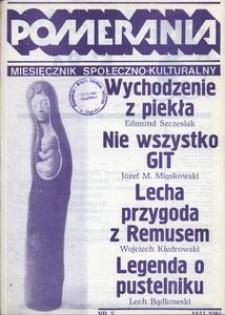 Pomerania : miesięcznik społeczno-kulturalny, 1984, nr 5
