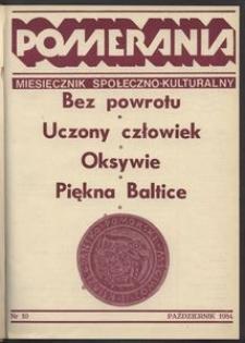 Pomerania : miesięcznik społeczno-kulturalny, 1984, nr 10