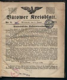 Bütower Kreisblatt 1871