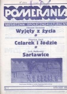 Pomerania : miesięcznik społeczno-kulturalny, 1984, nr 1