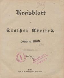 Kreisblatt des Stolper Kreises, 1906