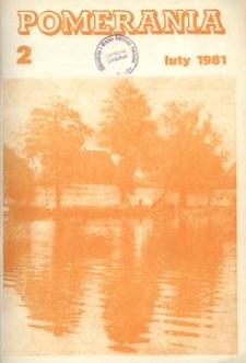 Pomerania : miesięcznik społeczno-kulturalny, 1981, nr 2