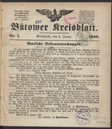 Bütower Kreisblatt 1869