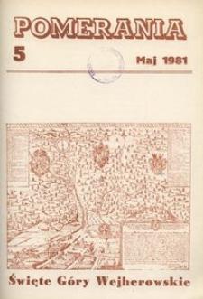 Pomerania : miesięcznik społeczno-kulturalny, 1981, nr 5