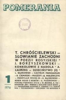 Pomerania : miesięcznik społeczno-kulturalny, 1976, nr 1