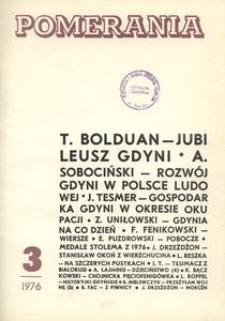 Pomerania : miesięcznik społeczno-kulturalny, 1976, nr 3