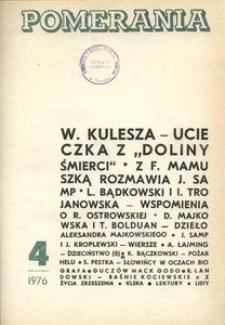 Pomerania : miesięcznik społeczno-kulturalny, 1976, nr 4
