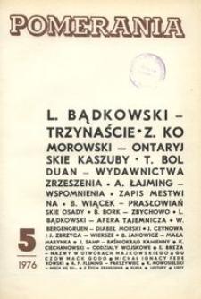 Pomerania : miesięcznik społeczno-kulturalny, 1976, nr 5