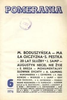 Pomerania : miesięcznik społeczno-kulturalny, 1976, nr 6