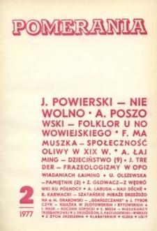 Pomerania : miesięcznik społeczno-kulturalny, 1977, nr 2