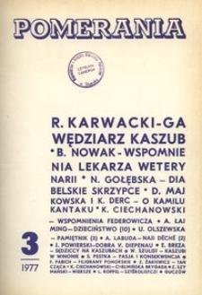 Pomerania : miesięcznik społeczno-kulturalny, 1977, nr 3