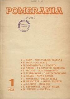 Pomerania : miesięcznik społeczno-kulturalny, 1978, nr 1