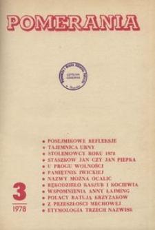 Pomerania : miesięcznik społeczno-kulturalny, 1978, nr 3