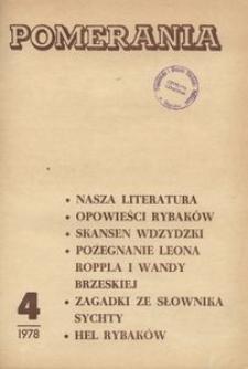 Pomerania : miesięcznik społeczno-kulturalny, 1978, nr 4