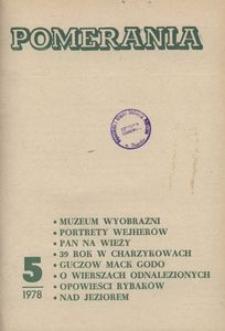 Pomerania : miesięcznik społeczno-kulturalny, 1978, nr 5