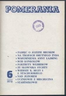 Pomerania : miesięcznik społeczno-kulturalny, 1978, nr 6