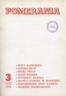 Pomerania : miesięcznik społeczno-kulturalny, 1979, nr 3