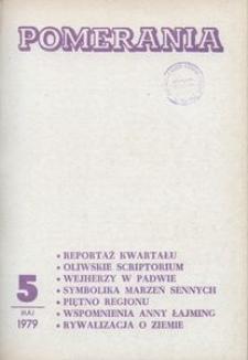Pomerania : miesięcznik społeczno-kulturalny, 1979, nr 5