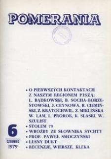 Pomerania : miesięcznik społeczno-kulturalny, 1979, nr 6