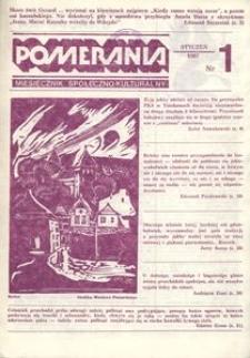 Pomerania : miesięcznik kulturalny, 1987, nr 1