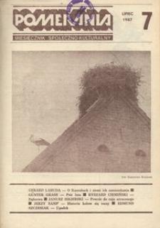 Pomerania : miesięcznik kulturalny, 1987, nr 7