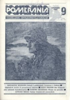 Pomerania : miesięcznik kulturalny, 1987, nr 9
