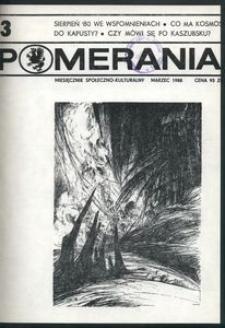 Pomerania : miesięcznik społeczno-kulturalny, 1988, nr 3