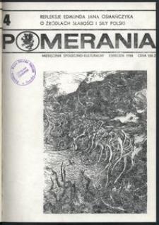 Pomerania : miesięcznik społeczno-kulturalny, 1988, nr 4