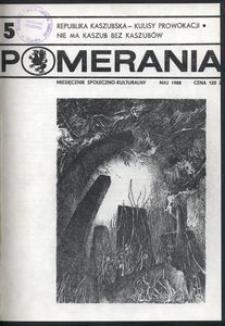Pomerania : miesięcznik społeczno-kulturalny, 1988, nr 5