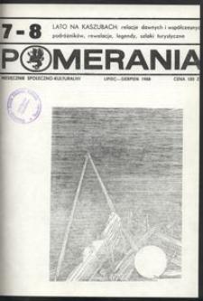 Pomerania : miesięcznik społeczno-kulturalny, 1988, nr 7-8