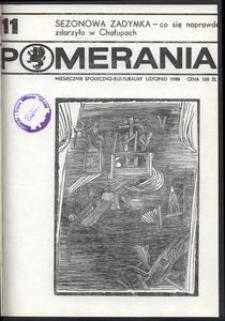 Pomerania : miesięcznik społeczno-kulturalny, 1988, nr 11
