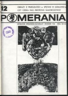 Pomerania : miesięcznik społeczno-kulturalny, 1988, nr 12