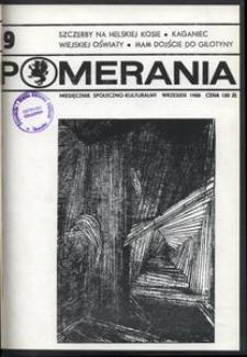 Pomerania : miesięcznik społeczno-kulturalny, 1988, nr 9