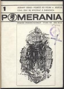 Pomerania : miesięcznik kulturalny, 1989, nr 1