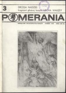 Pomerania : miesięcznik kulturalny, 1989, nr 3
