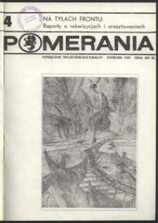 Pomerania : miesięcznik kulturalny, 1989, nr 4