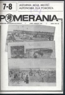 Pomerania : miesięcznik społeczno-kulturalny, 1990, nr 7-8